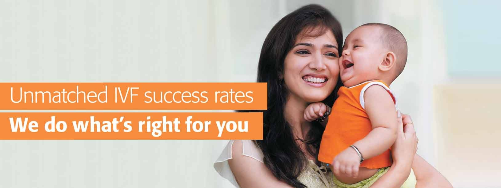 Unmatched IVF success rates. We do what's right for you